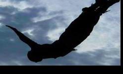 foto persona che vola